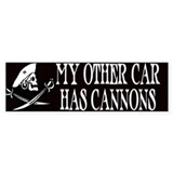 My Other Car Has Cannons Bumper Bumper Sticker
