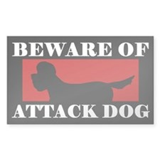 Beware of Attack Dog Dandie Dinmont Decal
