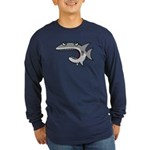 Shark Long Sleeve Dark T-Shirt
