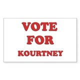 Vote for KOURTNEY Rectangle Bumper Stickers