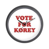 Vote for KOREY Wall Clock