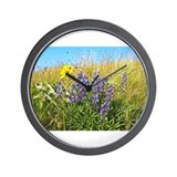 Lupine on Mt. Sentinel Wall Clock