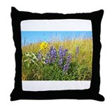Lupine on Mt. Sentinel Throw Pillow