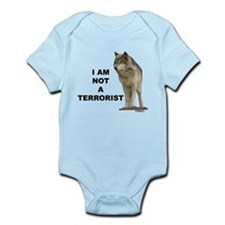 """NOT A TERRORIST"" Wolf Appare Infant Bodysuit"