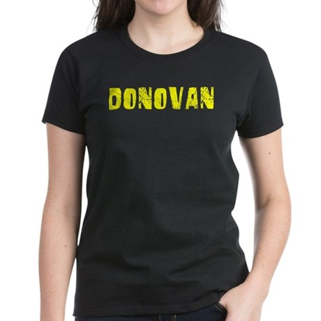Donovan Faded (Gold) Women's Dark T-Shirt