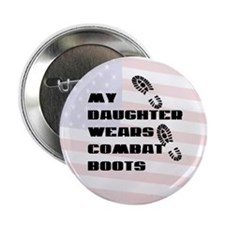 My Daughter Wears Combat Boots Button