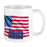 Amina Personalized USA Flag Small Mug
