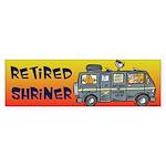 Retired Shriners Bumper Sticker