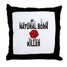 Natural Born Killer D20 Throw Pillow