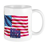 Aliza Personalized USA Flag Mug