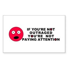 Not Paying Attention Rectangle Decal