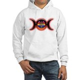 Triple Moon Red Hoodie Sweatshirt