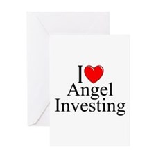 """I Love (Heart) Angel Investing"" Greeting Card"