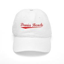 Vintage Dania Beach (Red) Baseball Cap