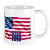 Alia Personalized USA Flag Coffee Mug