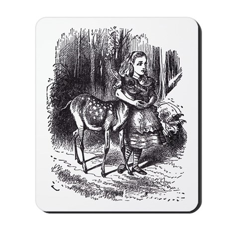 Alice and the Fawn Mousepad
