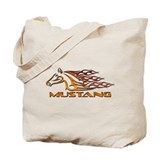 Mustang Tribal Tote Bag