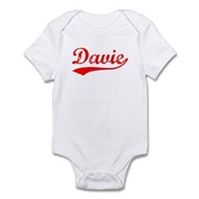 Vintage Davie (Red) Infant Bodysuit