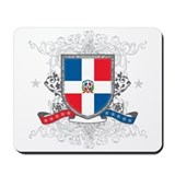 Dominican Republic Shield Mousepad