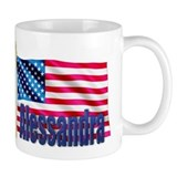 Alessandra Personalized USA Flag Mug
