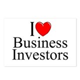 """I Love (Heart) Business Investors"" Postcards (Pac"