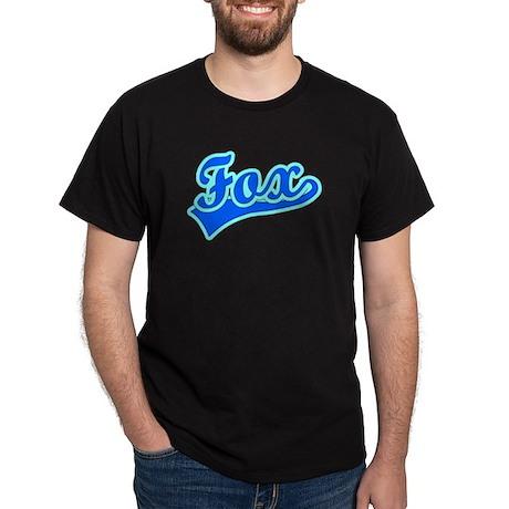 Retro Fox (Blue) Dark T-Shirt
