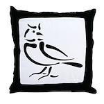 Stylized Lark Throw Pillow
