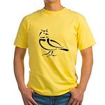 Stylized Lark Yellow T-Shirt