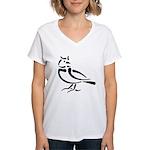 Stylized Lark Women's V-Neck T-Shirt