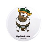 "highland cow 3.5"" Button"