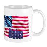 Alaina Personalized USA Flag Small Mug
