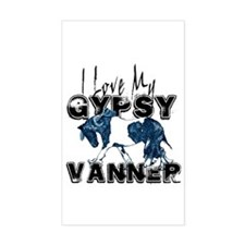 Gypsy Vanner Horse Rectangle Decal
