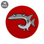 "Shark 3.5"" Button (10 pack)"