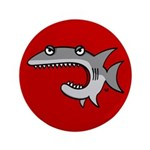 "Shark 3.5"" Button (100 pack)"