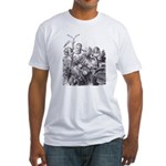 Talking Flowers Fitted T-Shirt