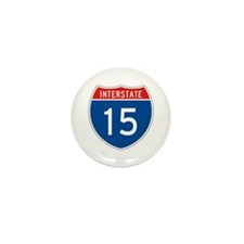 Interstate 15, USA Mini Button (100 pack)