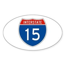 Interstate 15, USA Oval Decal