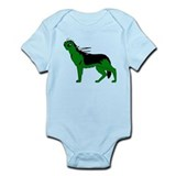 Green Dog-like Chupacabra Infant Bodysuit
