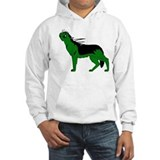 Green Dog-like Chupacabra Hoodie