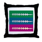 THREE CREWS DARK Throw Pillow
