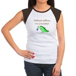CAFFEINE MONSTER Women's Cap Sleeve T-Shirt