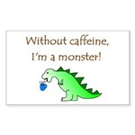 CAFFEINE MONSTER Rectangle Sticker