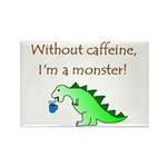 CAFFEINE MONSTER Rectangle Magnet (10 pack)