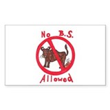 No B.S. Allowed Rectangle Sticker 10 pk)
