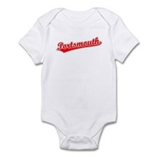 Retro Portsmouth (Red) Infant Bodysuit