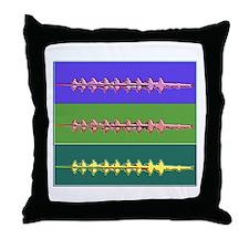 THREE CREWS WAX Throw Pillow