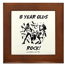8 Year Olds Rock Framed Tile