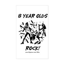 8 Year Olds Rock Rectangle Decal