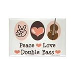 Peace Love Double Bass Rectangle Magnet