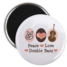 "Peace Love Double Bass 2.25"" Magnet (100 pack)"